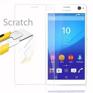 Cadorabo Tempered Glass works with Sony Xperia C4 in HIGH TRANSPARENCY Screen Protection 3D Touch Compatible with 9H Hardness Bulletproof Display Saver
