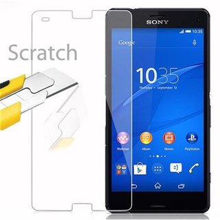 Cadorabo Tempered Glass works with Sony Xperia Z3 Compact in HIGH TRANSPARENCY - Screen Protection 3D Touch Compatible with 9H Hardness - Bulletproof Display Saver