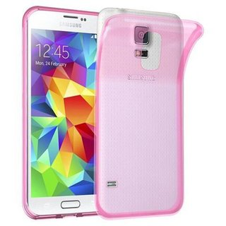 new product 4dc23 87e48 Cadorabo Case works with Samsung Galaxy S5 / S5 NEO in TRANSPARENT PINK -  Shockproof and Scratch Resistant TPU Silicone Cover - Ultra Slim Protective  ...