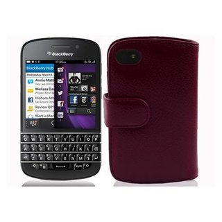 Cadorabo Hülle für Blackberry Q10 in BORDEAUX LILA -...