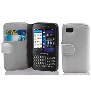 Cadorabo Book Case works with Blackberry Q5 in SNOW WHITE...