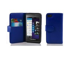 Cadorabo Book Case works with Blackberry Z10 in NAVY BLUE...