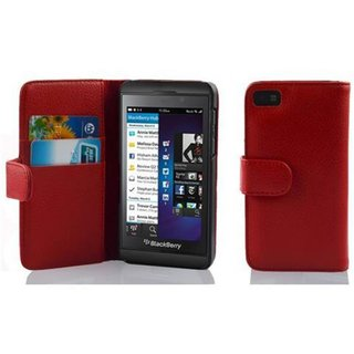 Cadorabo Hülle für Blackberry Z10 in INFERNO ROT -...
