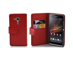 Cadorabo Hülle für Sony Xperia SP in INFERNO ROT ?...