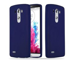Cadorabo Case works with LG G3 in CANDY DARK BLUE...