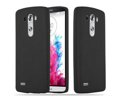 Cadorabo Case works with LG G3 in CANDY BLACK Shockproof...
