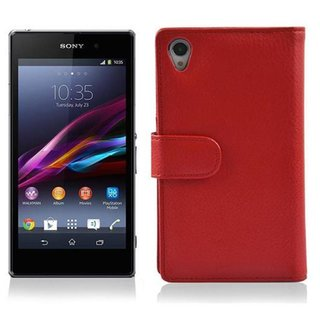 Cadorabo Hülle für Sony Xperia Z1 - Hülle in INFERNO ROT...
