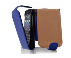Cadorabo Case works with Blackberry Q10 in NAVY BLUE Flip...