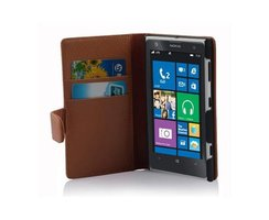 Cadorabo Book Case works with Nokia Lumia 1020 in SADDLE...