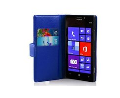 Cadorabo Book Case works with Nokia Lumia 925 in NAVY...