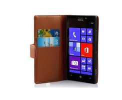 Cadorabo Book Case works with Nokia Lumia 925 in SADDLE...