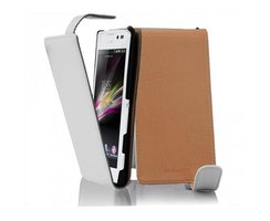 Cadorabo Case works with Sony Xperia C in SNOW WHITE -...