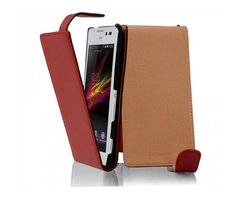 Cadorabo Case works with Sony Xperia C in CANDY APPLE RED...