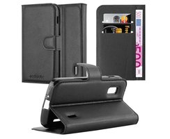 Cadorabo Book Case works with LG NEXUS 4 in OXID BLACK -...
