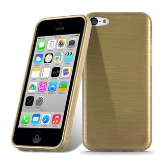 Cadorabo Hülle für Apple iPhone 5C - Hülle in GOLD -...