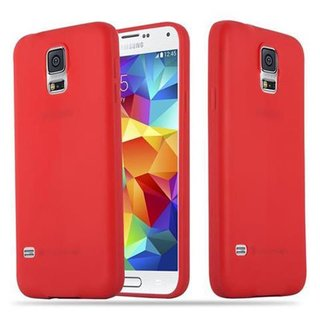 low priced 73566 da0aa Cadorabo Case works with Samsung Galaxy S5 / S5 NEO in CANDY RED -  Shockproof and Scratch Resistant TPU Silicone Cover - Ultra Slim Protective  Gel ...