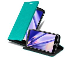 Cadorabo Book Case works with LG G2 in PETROL TURQUOISE -...