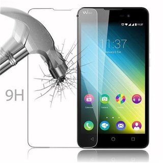 Cadorabo Tempered Glass works with WIKO LENNY 2 in HIGH TRANSPARENCY - Screen Protection 3D Touch Compatible with 9H Hardness - Bulletproof Display Saver