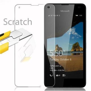 Cadorabo Tempered Glass works with Nokia Lumia 550 in HIGH TRANSPARENCY - Screen Protection 3D Touch Compatible with 9H Hardness - Bulletproof Display Saver