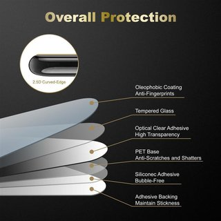 Cadorabo Tempered Glass works with LG K10 2016 in HIGH TRANSPARENCY Screen Protection 3D Touch Compatible with 9H Hardness Bulletproof Display Saver