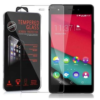 Cadorabo Tempered Glass works with WIKO PULP 4G in HIGH TRANSPARENCY - Screen Protection 3D Touch Compatible with 9H Hardness - Bulletproof Display Saver