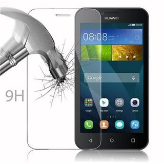 Cadorabo Tempered Glass works with Huawei Ascend Y5 / Y5C / Y541 / Y540 / Y520 in HIGH TRANSPARENCY - Screen Protection 3D Touch Compatible with 9H Hardness - Bulletproof Display Saver