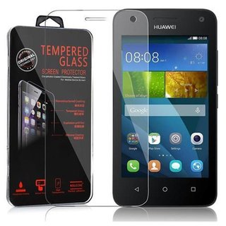 Cadorabo Tempered Glass works with Huawei Ascend Y3 / Y3C / Y331 / Y330 / Y360 in HIGH TRANSPARENCY Screen Protection 3D Touch Compatible with 9H Hardness Bulletproof Display Saver