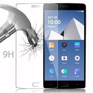 Cadorabo Tempered Glass works with OnePlus TWO in HIGH TRANSPARENCY Screen Protection 3D Touch Compatible with 9H Hardness Bulletproof Display Saver