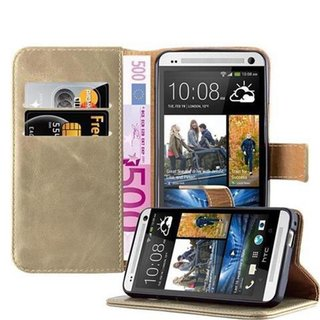 Cadorabo Book Case works with HTC One M7 in CAPPUCINO...
