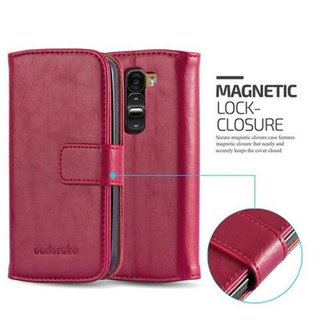 Cadorabo Book Case works with LG G2 MINI in WINE RED -...