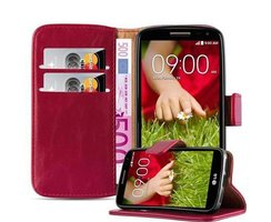 Cadorabo Book Case works with LG G2 MINI in WINE RED with...