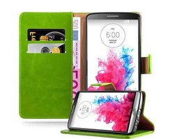 Cadorabo Book Case works with LG G3 in GRASS GREEN with...