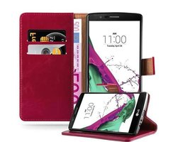 Cadorabo Book Case works with LG G4 / G4 PLUS in WINE RED...