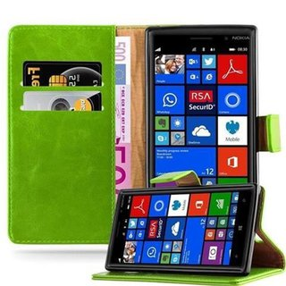 Cadorabo Book Case works with Nokia Lumia 830 in GRASS...