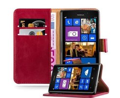 Cadorabo Book Case works with Nokia Lumia 925 in WINE RED...