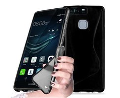 Cadorabo Case works with Huawei P9 in OXIDE BLACK -...