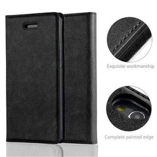 Cadorabo Book Case works with Huawei P7 in NIGHT BLACK -...