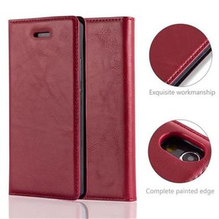 Cadorabo Book Case works with Huawei P7 in APPLE RED -...