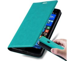 Cadorabo Book Case works with Nokia Lumia 535 in PETROL...