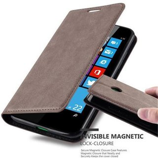 Cadorabo Book Case works with Nokia Lumia 630 in COFFEE...