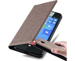 Cadorabo Book Case works with Nokia Lumia 650 in COFFEE...
