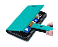 Cadorabo Book Case works with Nokia Lumia 925 in PETROL...