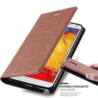 cozy fresh b6af0 c2c15 Cadorabo Book Case works with Samsung Galaxy NOTE 3 in CAPPUCCINO BROWN -  with Magnetic Closure, Stand Function and Card Slot - Wallet Etui Cover ...