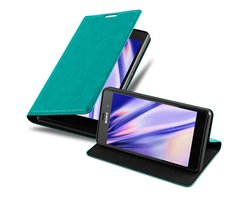 Cadorabo Book Case works with Sony Xperia Z3 in PETROL...