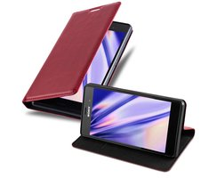 Cadorabo Book Case works with Sony Xperia Z3 in APPLE RED...