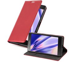 Cadorabo Book Case works with Sony Xperia Z5 in APPLE RED...