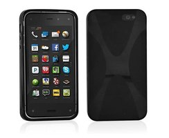 Cadorabo Case works with Amazon FirePhone in OXIDE BLACK...