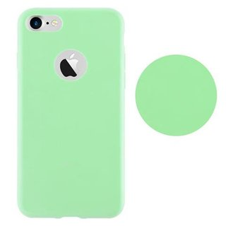 Cadorabo Case works with Apple iPhone 7 / iPhone 7S / iPhone 8 in CANDY PASTEL GREEN Shockproof and Scratch Resistant TPU Silicone Cover Ultra Slim Protective Gel Shell Bumper Back Skin