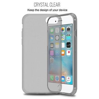 Cadorabo Case works with Apple iPhone 7 / iPhone 7S / iPhone 8 in TRANSPARENT BLACK Shockproof and Scratch Resistant TPU Silicone Cover Ultra Slim Protective Gel Shell Bumper Back Skin