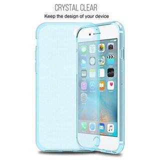 Cadorabo Case works with Apple iPhone 7 / iPhone 7S / iPhone 8 in TRANSPARENT BLUE - Shockproof and Scratch Resistant TPU Silicone Cover - Ultra Slim Protective Gel Shell Bumper Back Skin